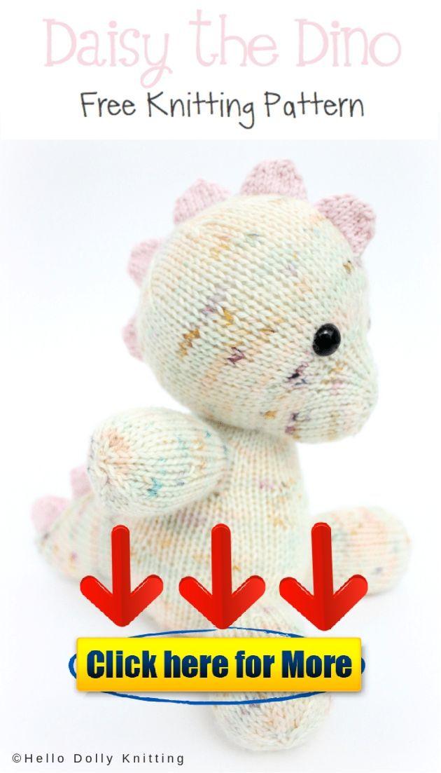 fdc140156 Free Knitting Pattern - Daisy the Baby Dino PDF Knitting Pattern 👈  knitting  Free Knitting