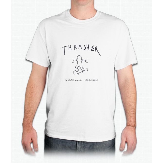 THRASHER skateboard mag white - Mens T-Shirt