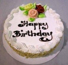 Torta di compleanno con i fiori di zucchero