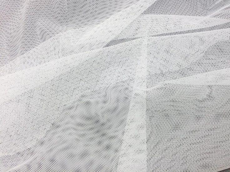 MIRINE New White Mesh See-Through Lace Fabric Veil or Canopy Texture/ per 1 yard #MIRINE