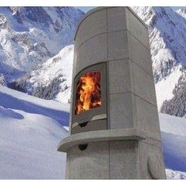 De #Altech Massiv is met zijn ronde en afgebogen voorkant een unieke speksteen #houtkachel te noemen. Dankzij zijn sierlijke maar massieve speksteen is de Altech Massiv een lust voor het oog. Het topmodel van Altech onderscheidt zich van de rest door het kleine vloeroppervlak van maar 72 x 56cm. #Houthaard #Fireplace #Fireplaces