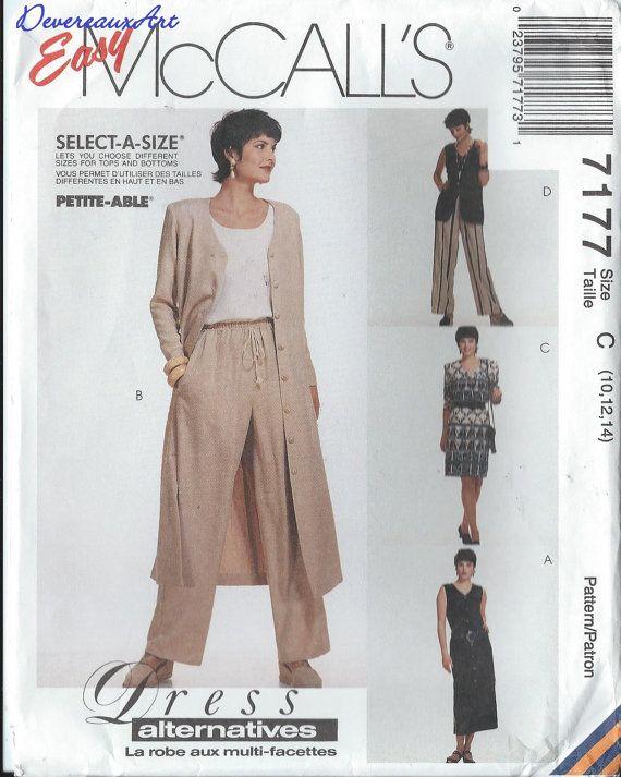 1994 McCall's Dress Alternative Pattern 7177  by Devereauxart, $4.00