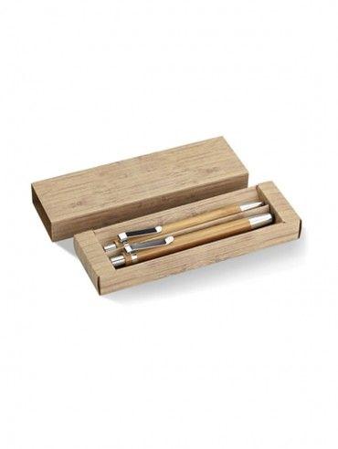 Set pix şi creion mecanic din bambus. Cod produs: 14-MO8111.