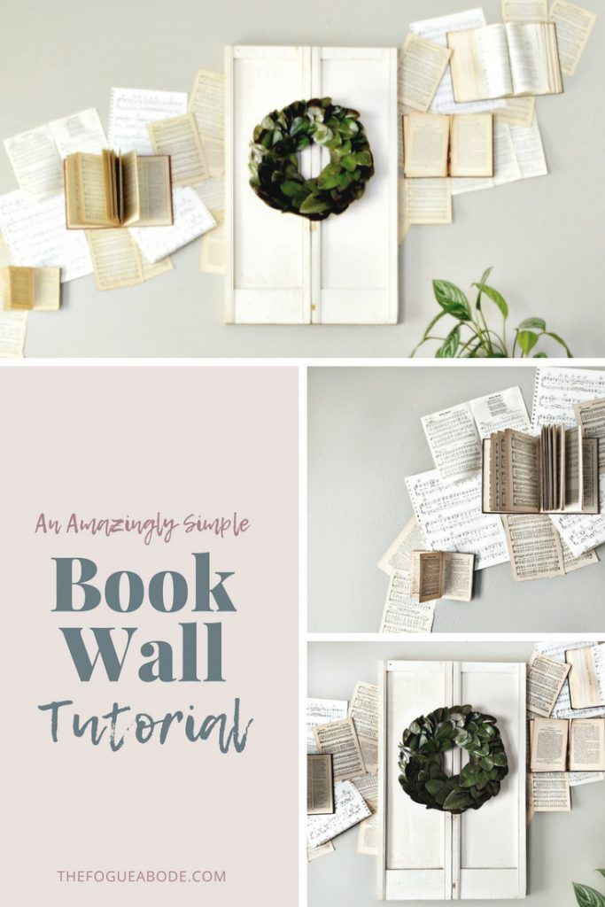 My Amazingly Simple Book Wall Tutorial Book Wall Playroom Wall