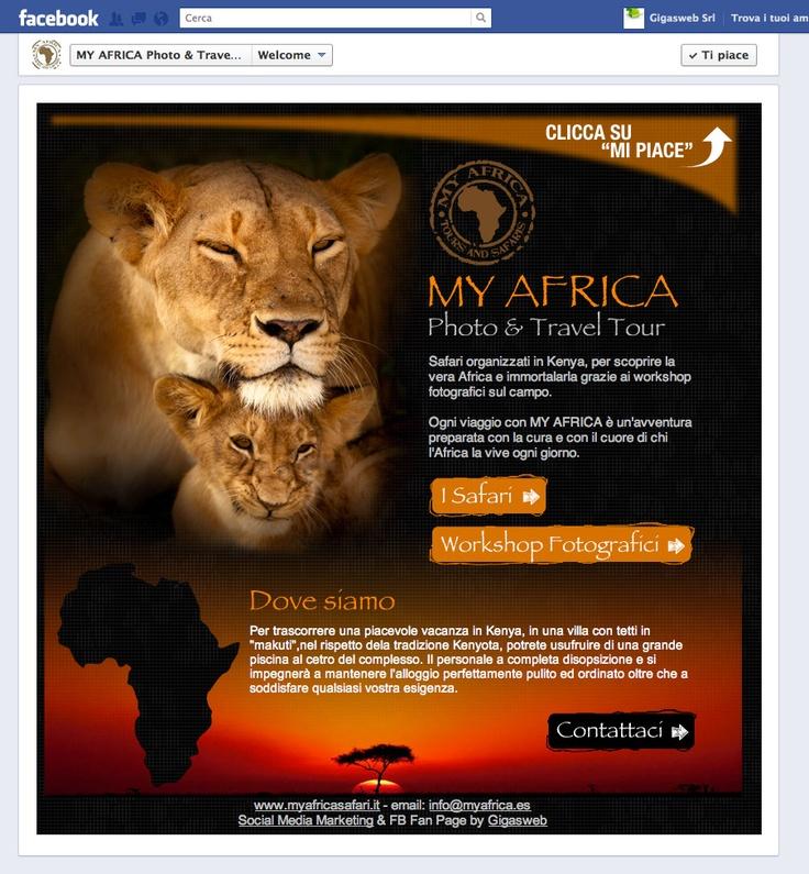 Cliente: My Africa  Attività: Realizzazione creatività e sviluppo fanpage interattiva.
