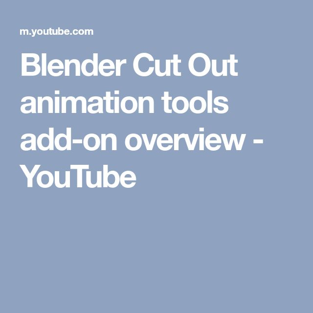 Blender Cut Out animation tools add-on overview - YouTube