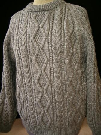 The Aran Sweater, a traditional garment worn by fisherman from the Aran Islands, Ireland. Now worn by traditionalist Irish fashionistas, such as moi. ;) J