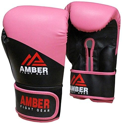 Boxing Hook And Loop Training Gloves Pink . http://www.ambersport.co.uk/boxing-hook-and-loop-training-gloves-pink.html