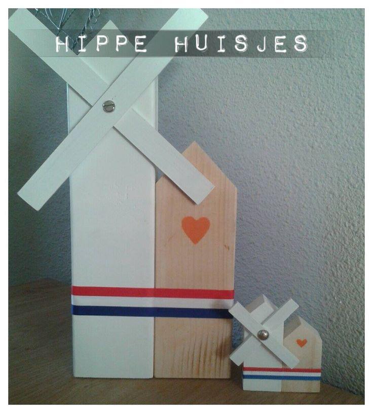 Grote en kleine Hollandse molen!  www.hippehuisjes.nl/handgemaakt/hippemolentjes.html