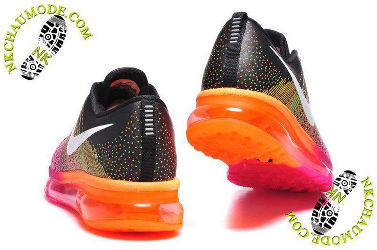 Air Max 2014 nike chaussure running femme Noir/Rose/Orange