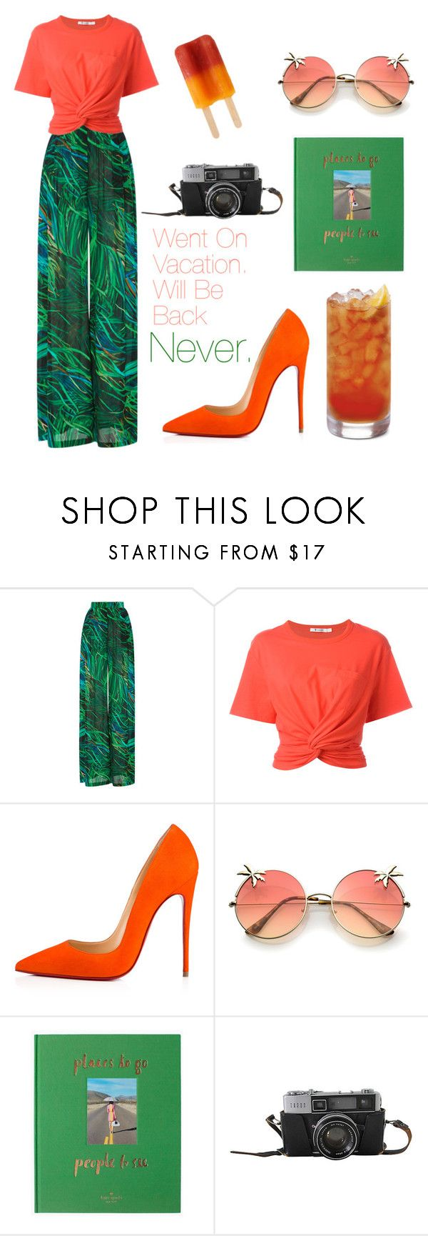 """""""Gone For Good"""" by edencarroll ❤ liked on Polyvore featuring Elie Saab, T By Alexander Wang, Christian Louboutin and Kate Spade"""