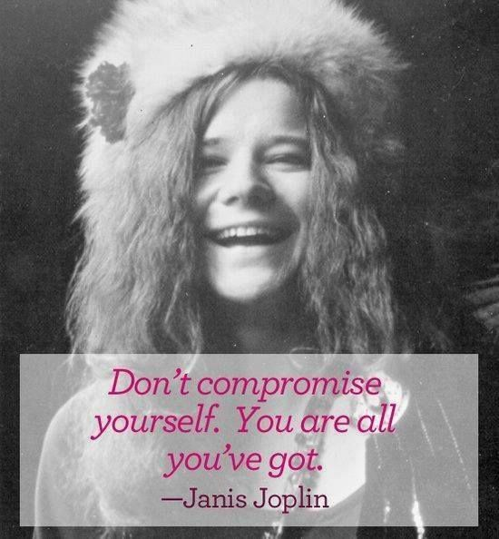 Never compromise yourself