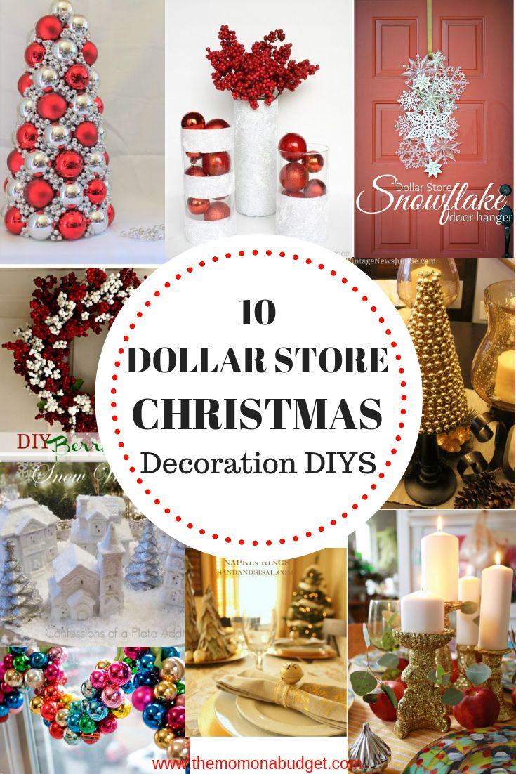 10 Dollar Store Christmas Decoration DIYS