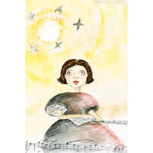 Sunrise melody - Postcards, Watercolor