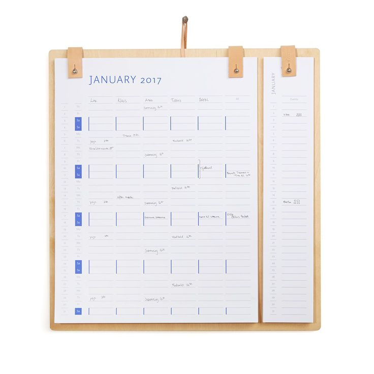 Planner Board Kalender 2017 & 2018, by Wirth