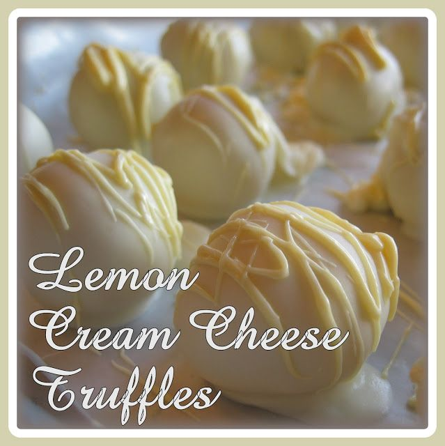 Lemon and Cream Cheese Truffles... SO easy and amazing!- pinkcookieswithsprinkles.blogspot.com