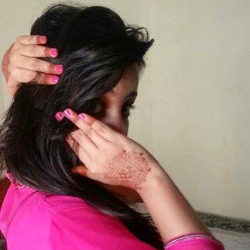 Cute Girl hide face by hand - Facebook Display Pictures