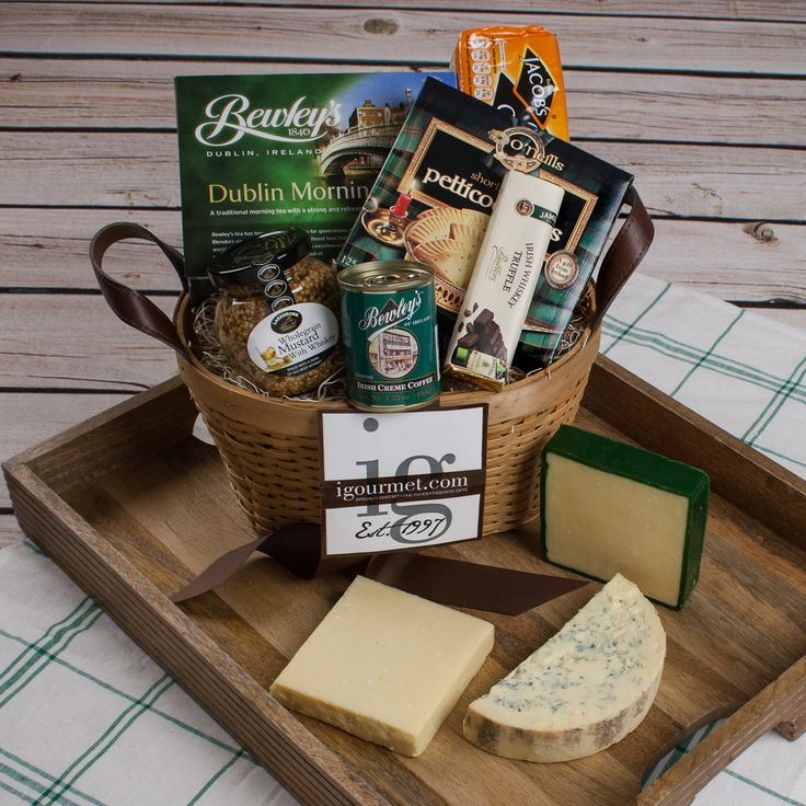 25 unique cheese gift baskets ideas on pinterest food gift this classic basket combines traditional irish fare with three of our irish negle Image collections