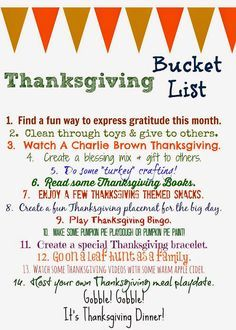 Thanksgiving Bucket List (Free Printable) || The Chirping Moms #thanksgivingbucketlist