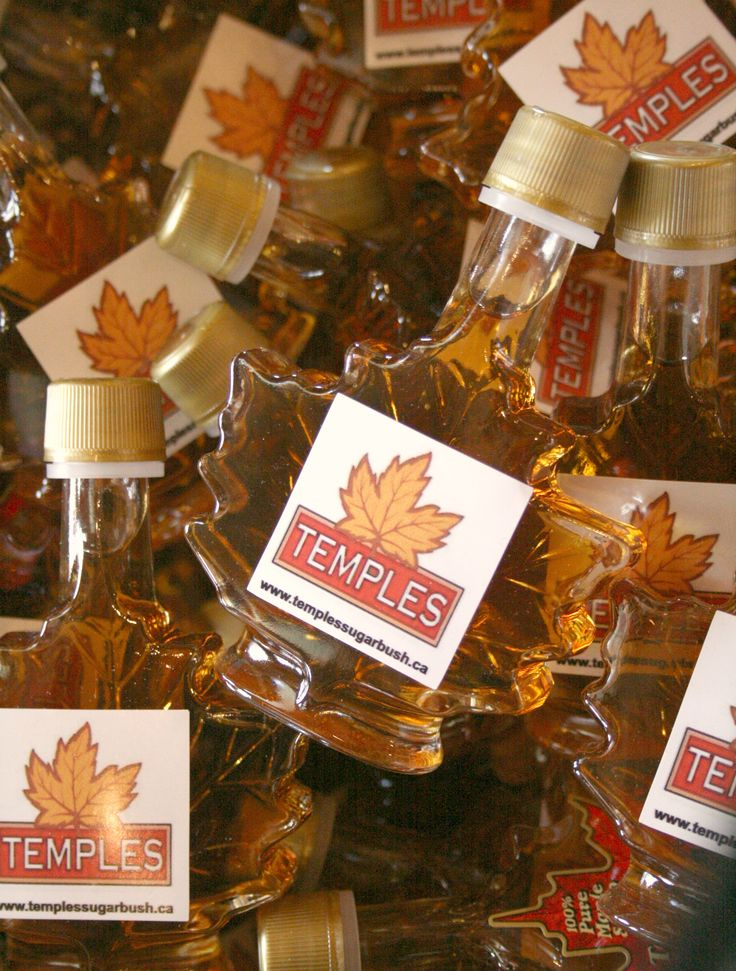 50ml leaf shaped bottles. This size is perfect for stocking stuffers, to be added to a gift basket, as a little souvenir, as well as wedding favors.  To find out more: www.templessugarbush.ca