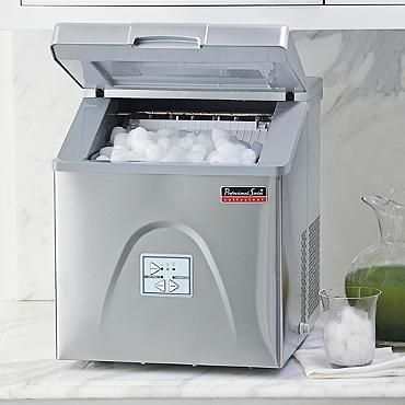 Our Portable Ice Maker freezes 12 ice cubes every 6-8 minutes, generating up to 30 pounds of ice in 24 hours. With its sleek, stainless steel exterior, there no need to hide it under a counter  instead, use this entertaining necessity for a home bar or office refreshment center. Requires no additional wiring or plumbingSelect from 3 different cube size optionsInsulated ice maker compartment stores 2-1/2 pounds of ice so you won run out while entertainingSimply add water and plug it inHolds…