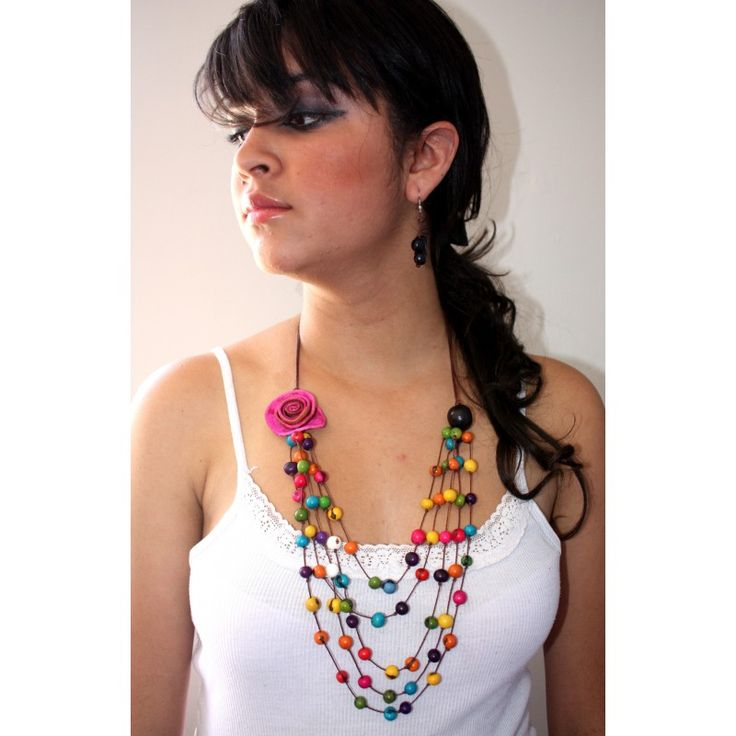 Collar naranja Lucia - ECOaccesorios