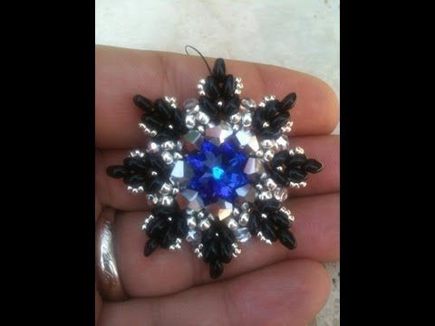 "DIY tutorial ciondolo twin beads - superduo "" twinnlino"" - pendent - YouTube"