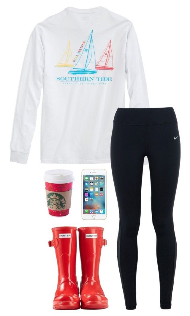 """Give me love❤️"" by toonceyb ❤ liked on Polyvore featuring NIKE, Hunter, women's clothing, women's fashion, women, female, woman, misses and juniors"