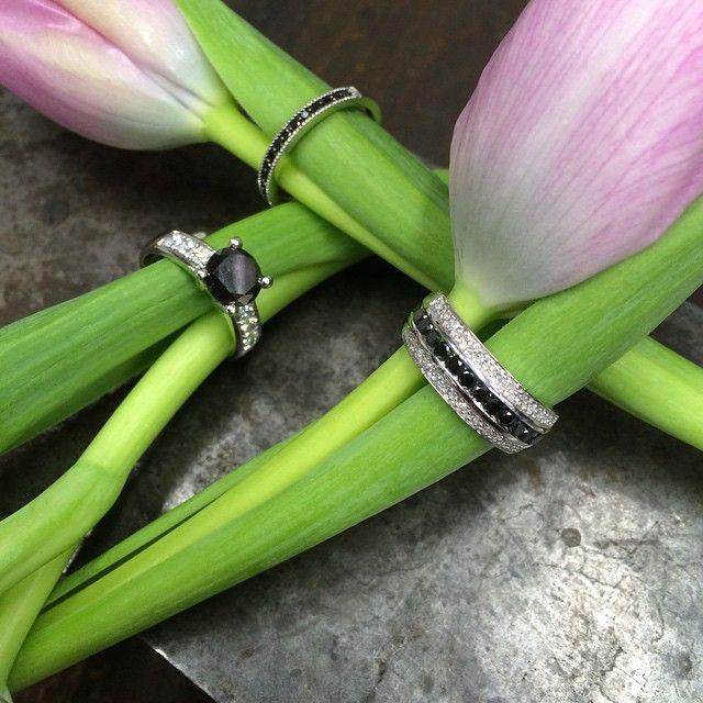Mustat timantit koristavat sormuksia! Malmin Korupajan oma sormusmallisto. #malminkorupaja