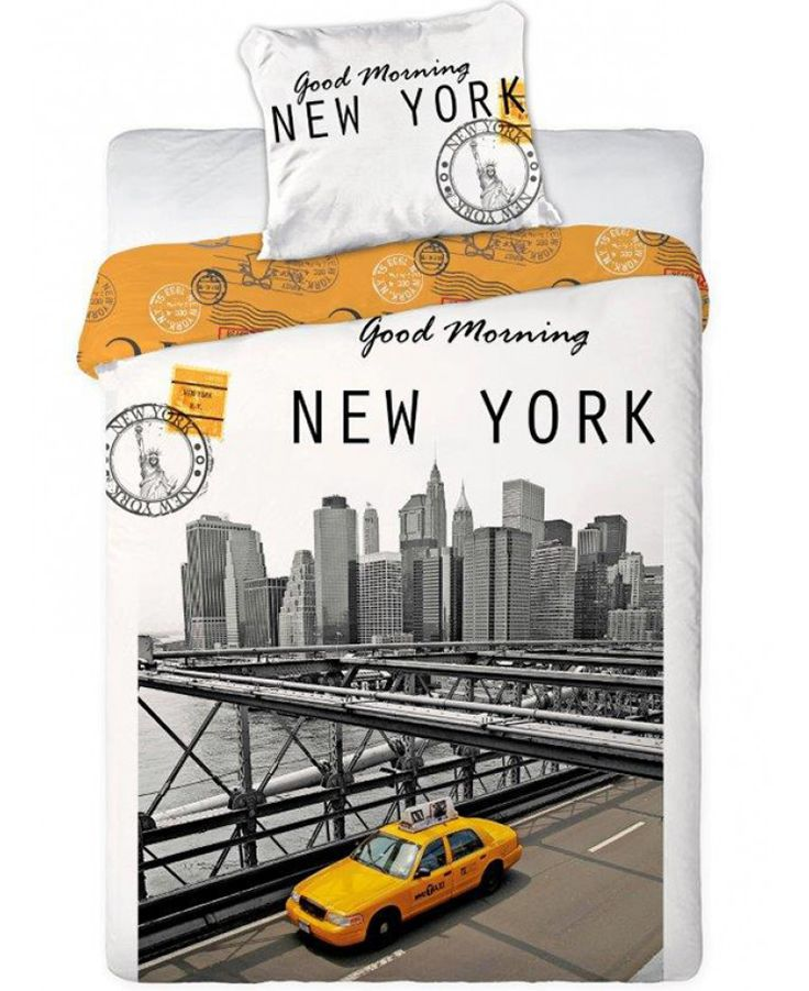 Grab a slice of the Big Apple with this stylish Good Morning New York duvet cover set. Free UK delivery available.