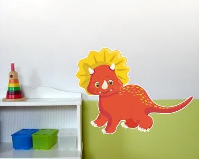 Perfect Buntes Wandtattoo Roter Dino Roter Dino Wandtattoo in einer Breite ab cm Wandtattoo KinderzimmerAbs