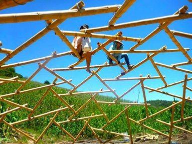 cupola geodetica bambù - 3