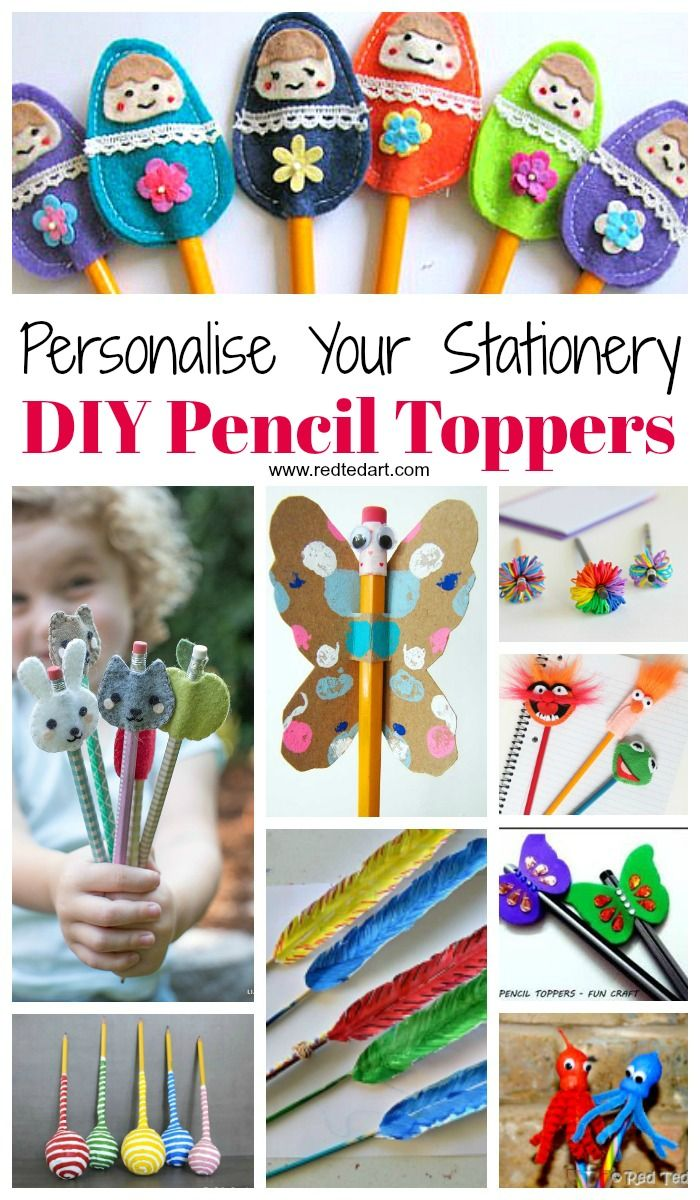 Pencil Topper Craft Ideas - Oh my, these Pencil Topper DIYs are all so CUTE!!! Something for all ages here, a great way to personalise your Back to School Stationery in a fun and colourful way. Pencil toppers also make great gifts for friends or for teachers to get ready as small glass gifts. LOVE!