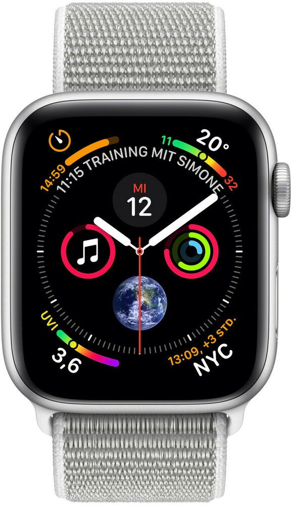 Ebay Sponsored Apple Watch Series 4 Gps Cellular 44mm Silber Aluminium Sport Loop Muschel Ebay Apfeluhr Ios Apple
