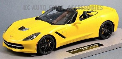 2014 Chevrolet Corvette C7 Spyder Yellow 1:18 Scale Resin Model BBR BLM1815E