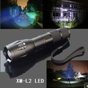 MECO XM-L2 5 Modes 2000LM Zoomable LED Flashlight 18650/AAA Sale - Banggood.com