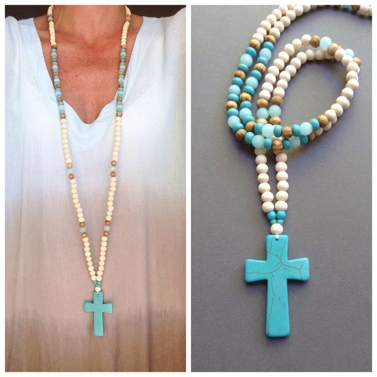 Le chouchou de ma boutique https://www.etsy.com/fr/listing/504675598/grand-sautoir-pendentif-croix-turquoise