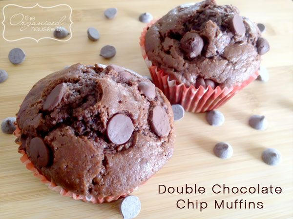 Double chocolate chips muffins, just heavenly