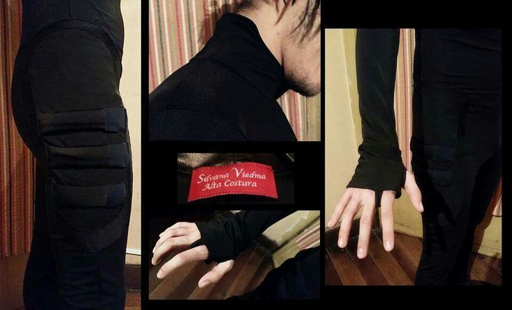 Traje masculino utilizado para. Cosplay con detalles y aplicaciones #cosplay #traje #detalles #dark #nightwing #lycra #elasticado