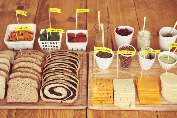 Build your own grilled cheese