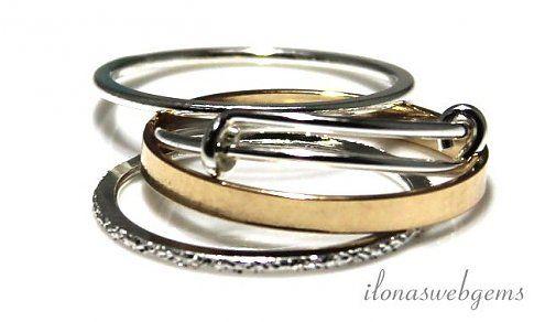 14K/20 Gold filled en Sterling zilveren ringen 19mm