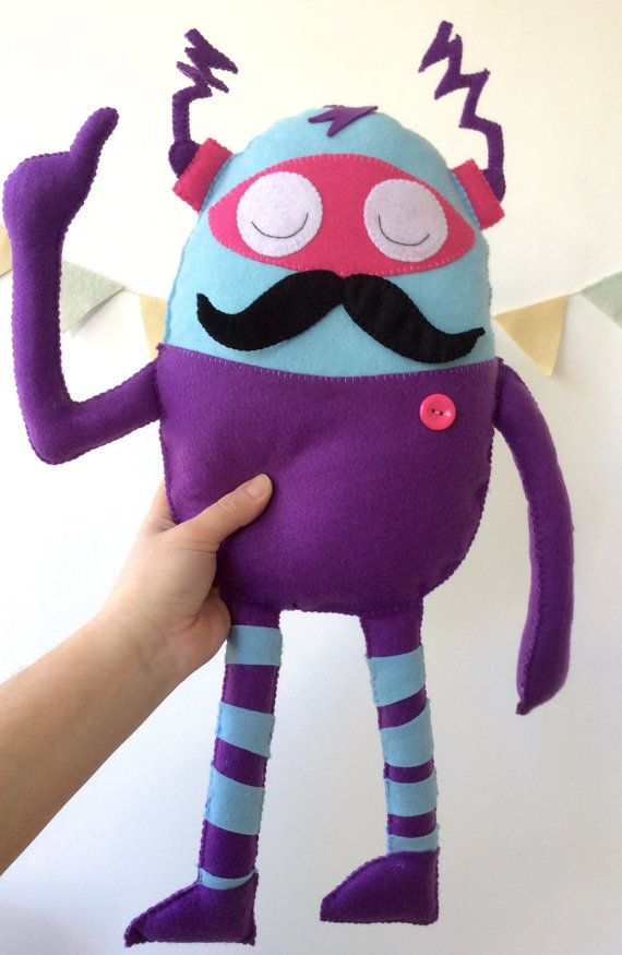 Stuffed toy, Little monster toy, custom toy, monster nursery room  from by LaPetiteMelina