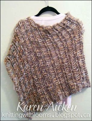 Free Knitting Pattern For Short Poncho : 1000+ images about CRAFTS: Loom Knitting on Pinterest ...