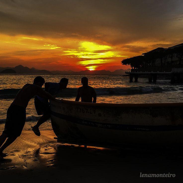 Pescadores... - Copacabana, Ro de Janeiro, Brazil, South America