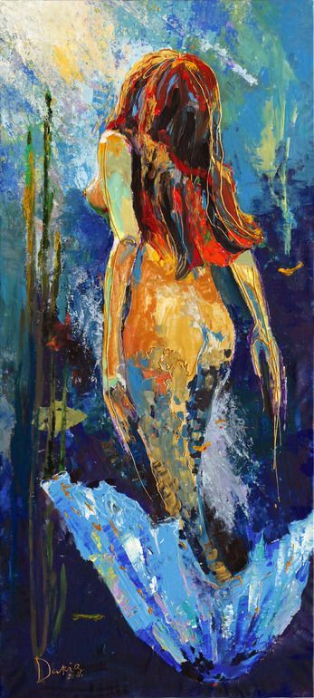 """Saatchi Online Artist: Daria Bagrintseva; Acrylic, 2011, Painting """"Little Mermaid"""" ☮ re-pinned by http://www.wfpblogs.com/author/southfloridah2o/"""