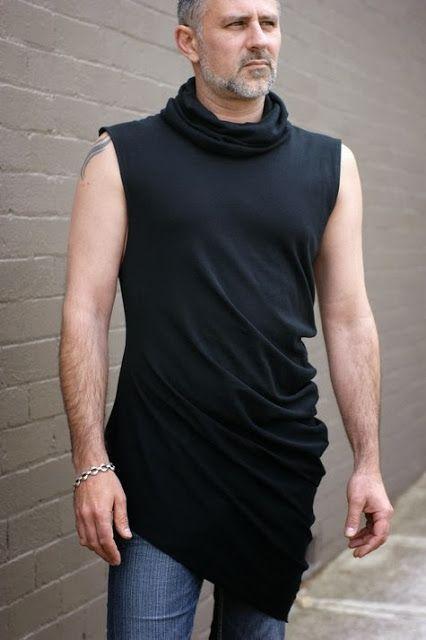Free sewing patterns for men Urbandon asymmetrical T-shirt: