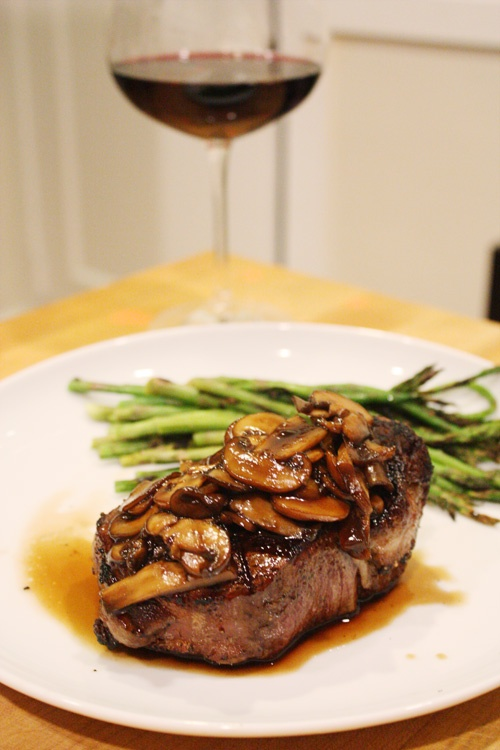 Best mushrooms that accompany a steak. So easy and always a hit. Thanks to my sis in law for posting on her blog.