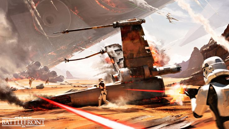 Exhilarating STAR WARS BATTLEFRONT Concept Art for The Battle of Jakku — GeekTyrant
