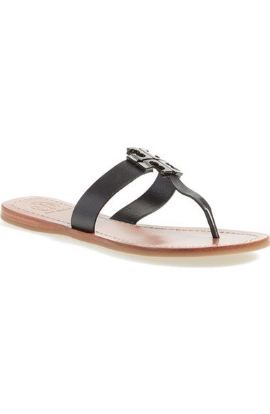 Tory Burch 'Moore' Leather Thong Sandal (Women) available at #Nordstrom