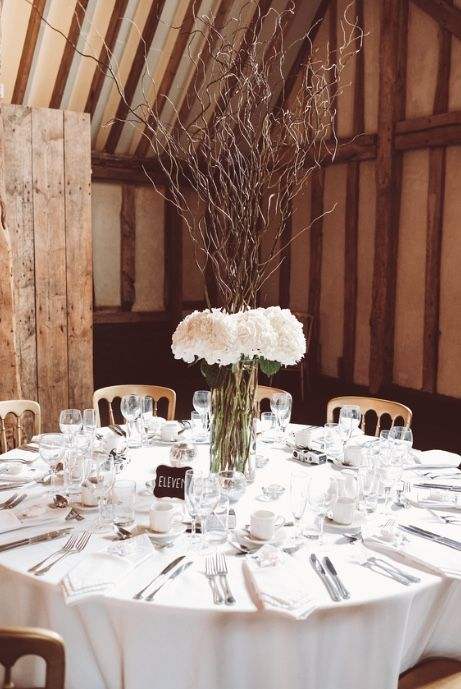 98 best little tin shed weddings images on pinterest box heavenly table decoration with hydrangeas and tall twigs to add height to this wedding at blake junglespirit Choice Image